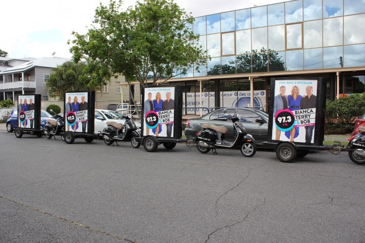 Scooters for 97.3FM's marketing campaign