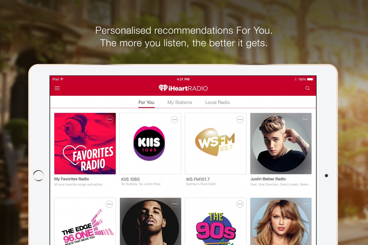 iHeartRadio Australia Launches App With \'My Favourites Radio\' Feature