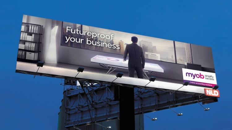 MYOB brand campaign (outdoor)