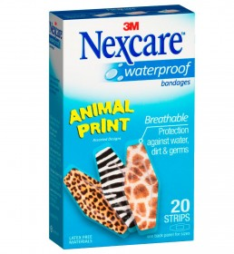 Nexcare™ Animal Print waterproof bandages
