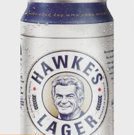 Hawke's lager can