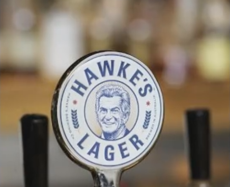 Hawke's lager tap