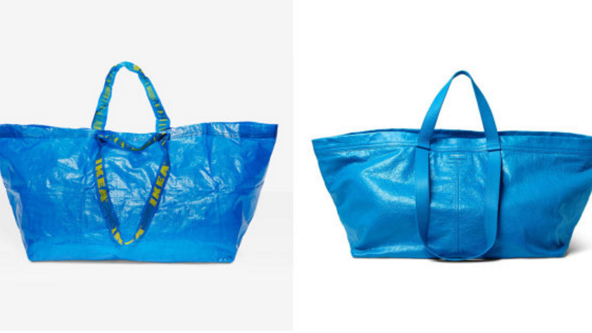 IKEA and Balenciaga bags