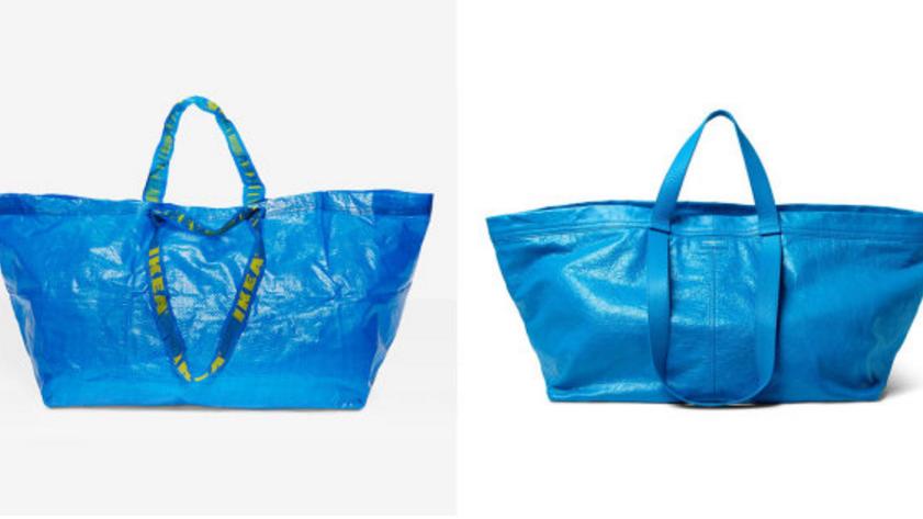 IKEA and Balenciaga bags