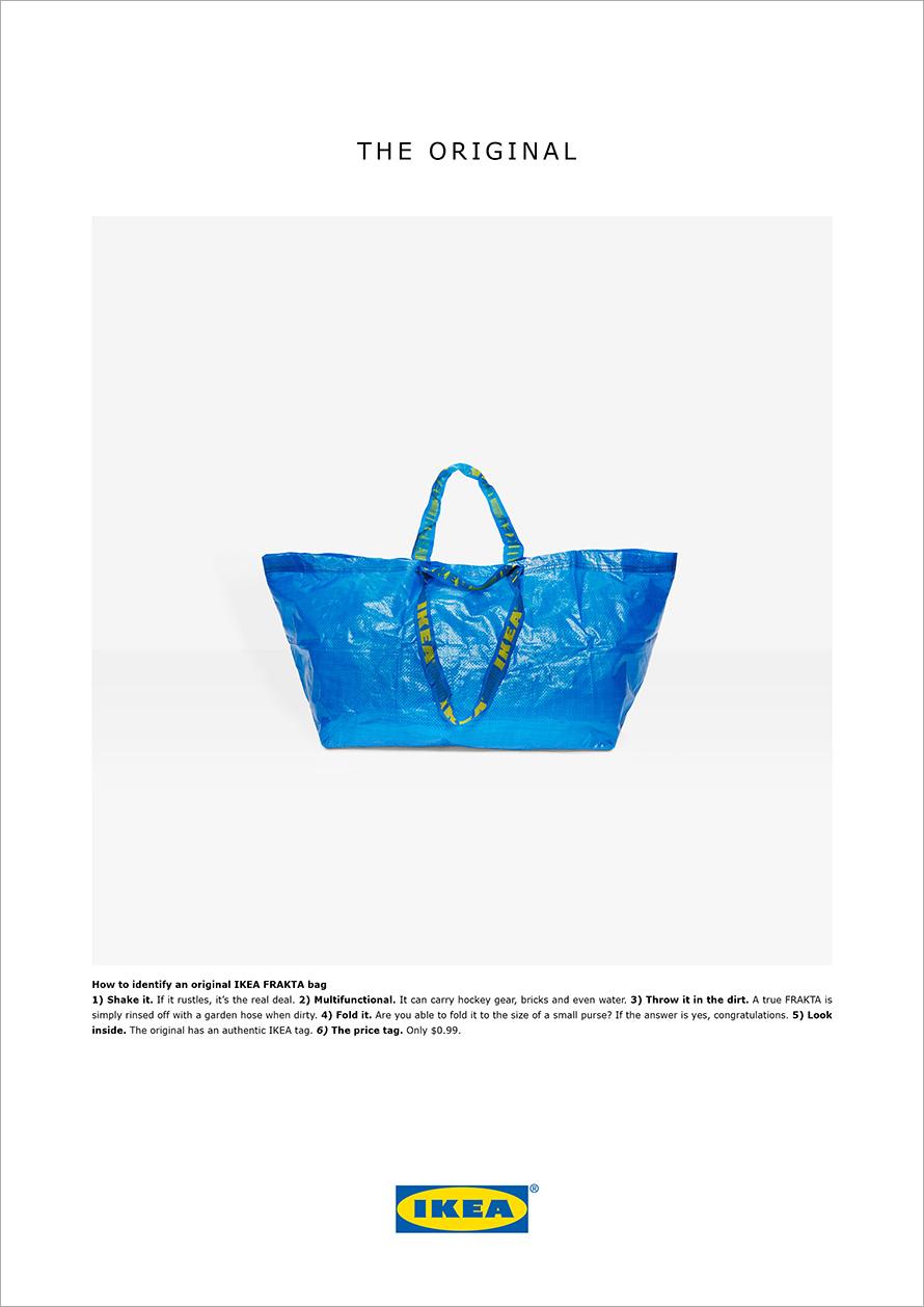 Ikea's Balenciaga response ad