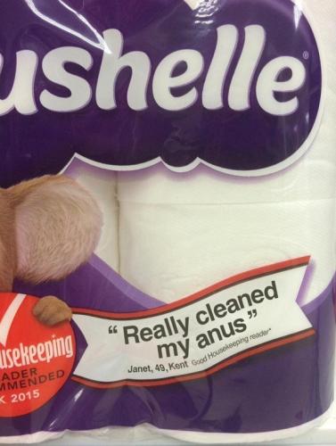 Cushelle toilet paper endorsement [1]