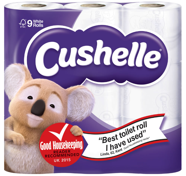 Cushelle toilet paper endorsement [3]