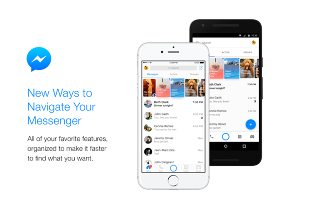 Facebook Unveils New Look For Messenger