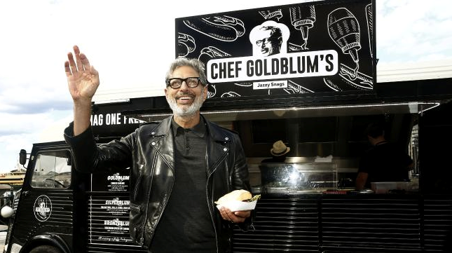 Jeff Goldblum's food truck (Menulog)