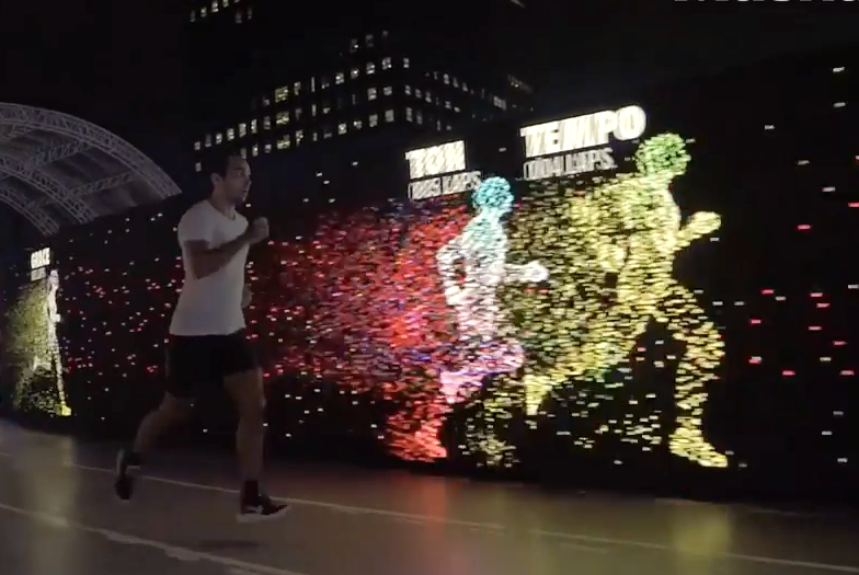 377de758c807 Nike Unveils Super Cool LED Running Track That Lets You Race Your Own Avatar