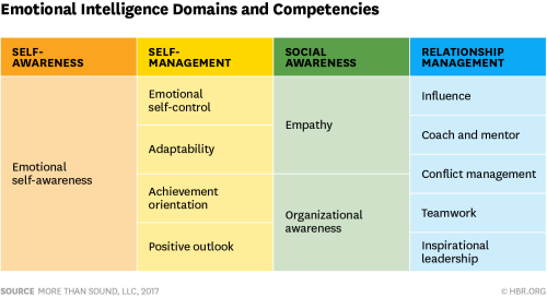 Emtional intelligence domains and competencies