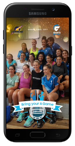 Samsung 'Bring your A Game' netball integration