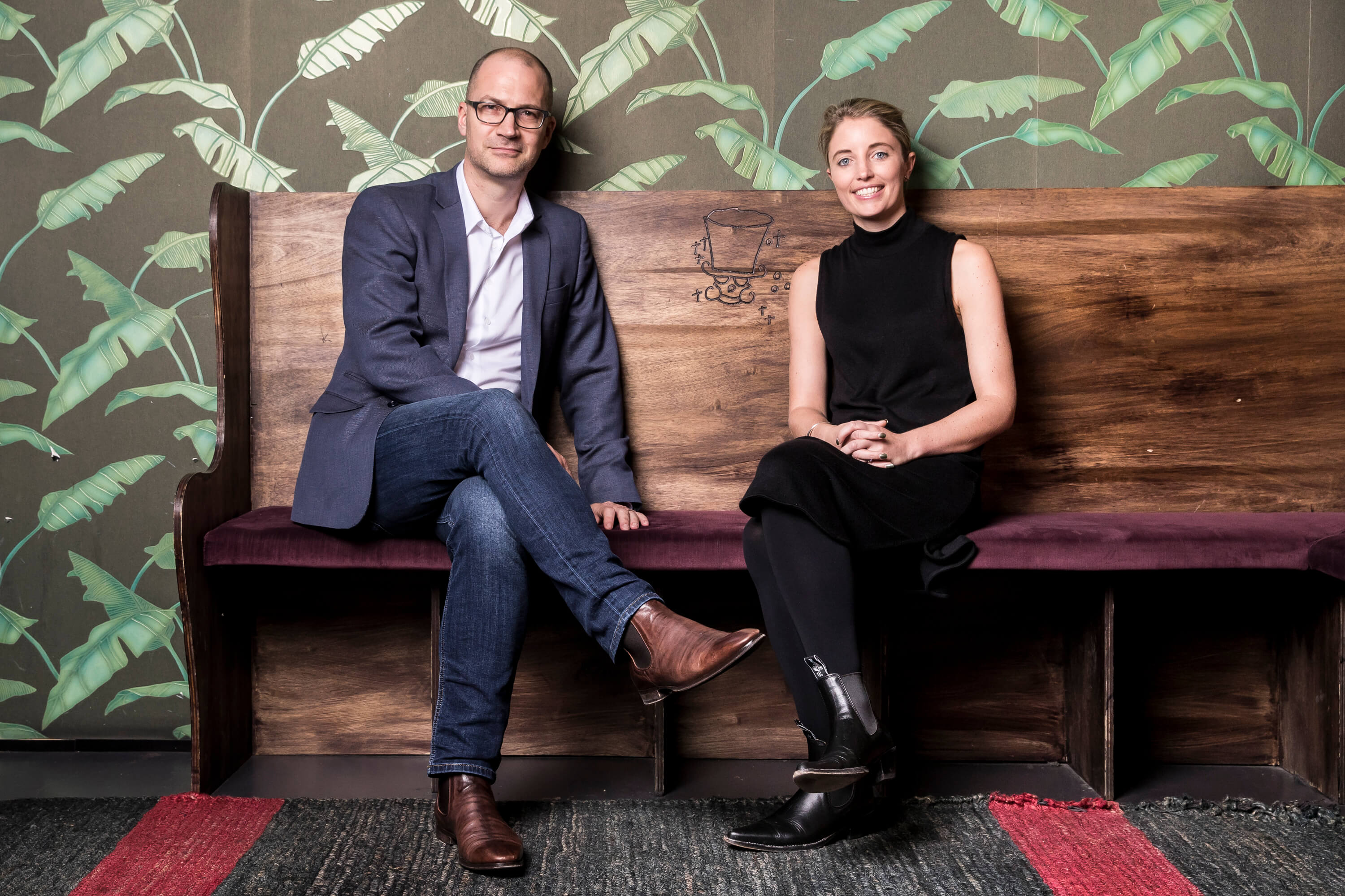 Amicus Digital founders Blair Cooke and Jessie Mitchell