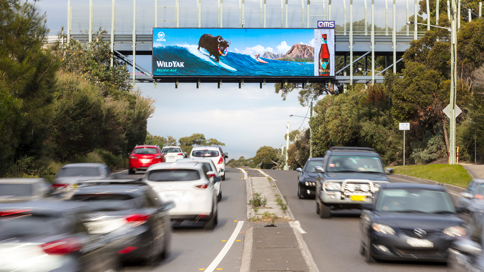 QMS 'The Lakes' digital billboard