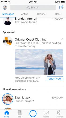 Facebook Messenger ad [2]
