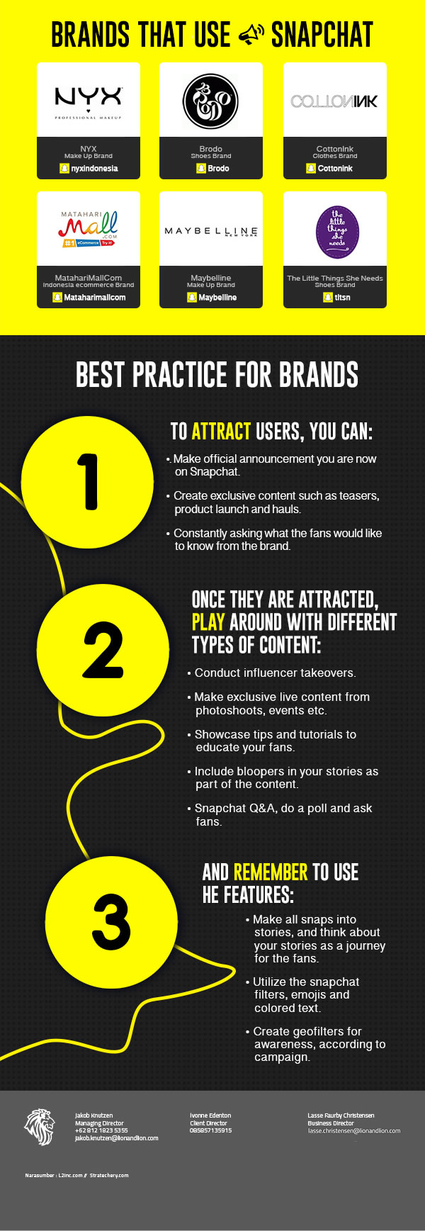 Infographic - Snapchat Best Practice For Brands (Lion & Lion)