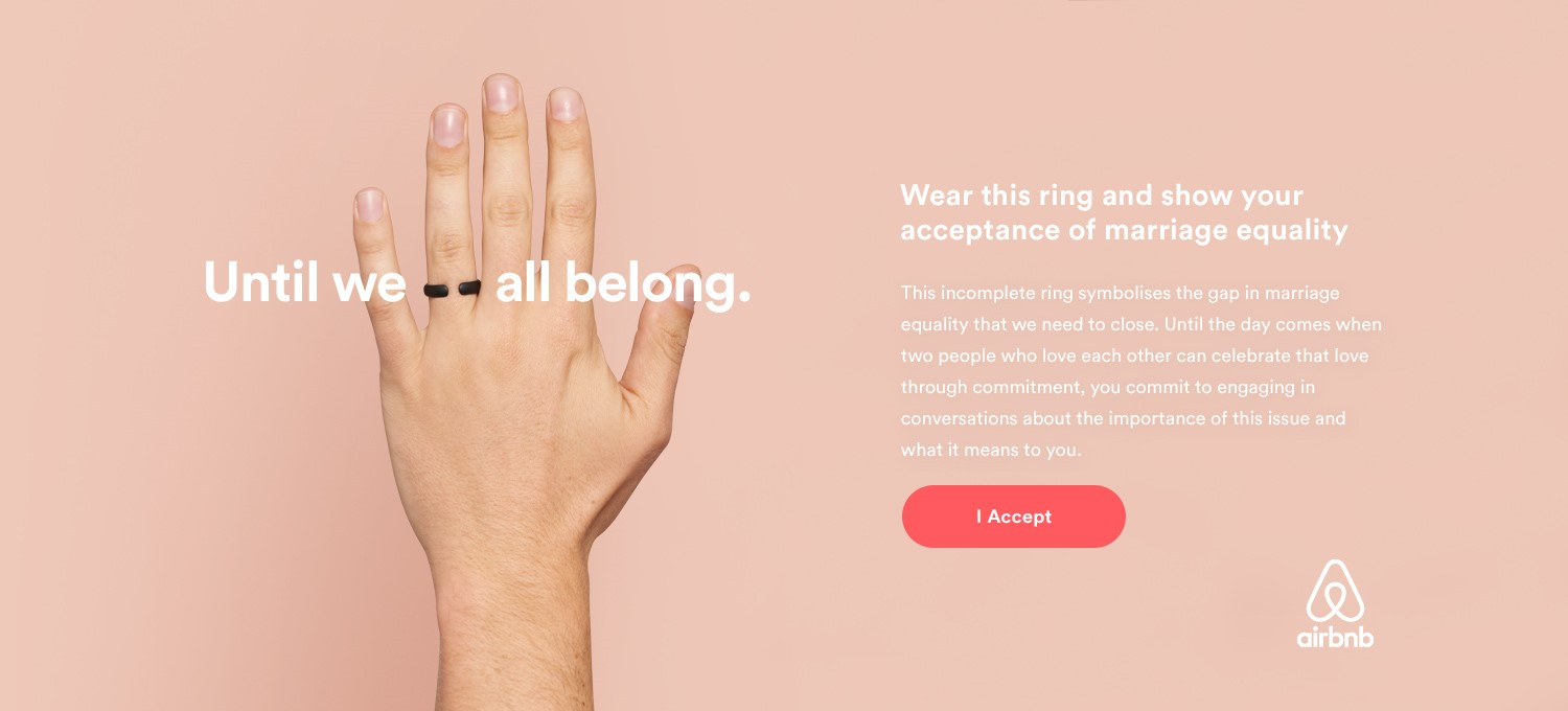 Airbnb 'Until We All Belong' campaign