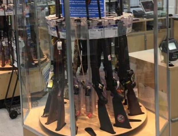 Walmart in strife over back to school gun display b t