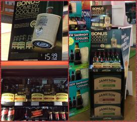 Jamesons' 'Tap for a joke' beer cooler