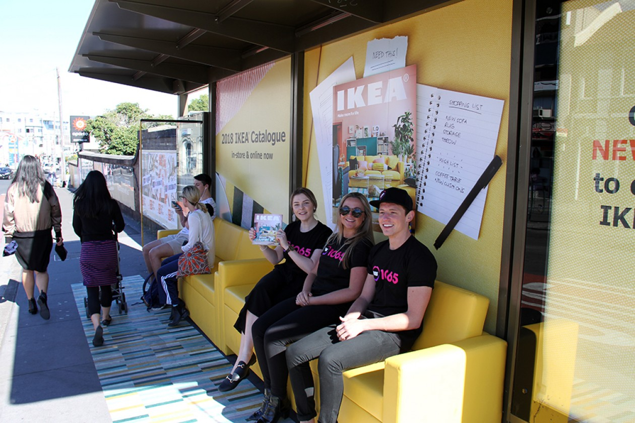 Adshel Arn Turn Bus Shelters Into Living Rooms For Ikeas 2018