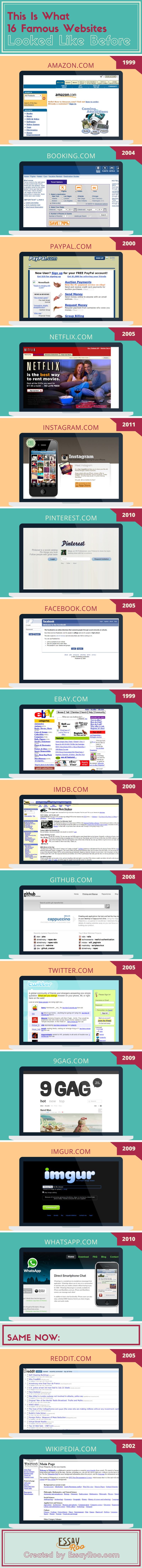 Infographic - This is What 16 Famous Websites Looked Like Before [1]
