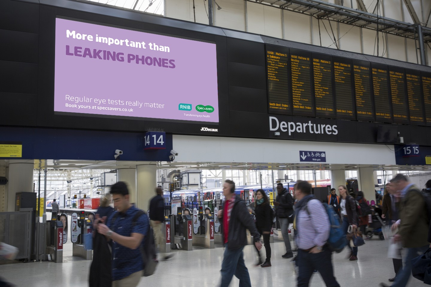 Specsavers digital OOH UK campaign