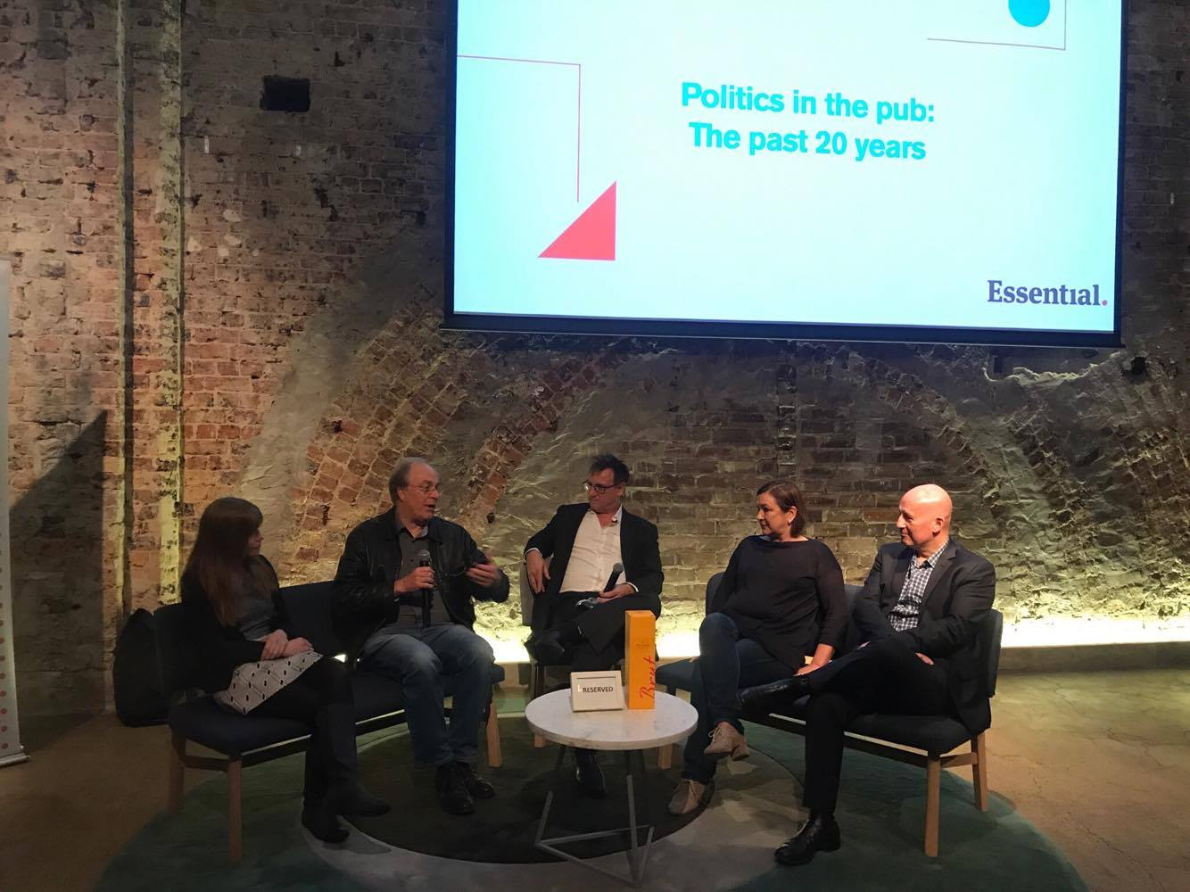 Panel session at Essential's 20th birthday party