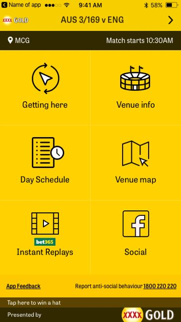 Cricket Australia Matchday app [1]
