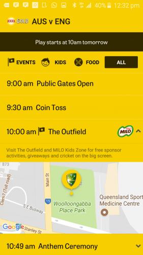 Cricket Australia Matchday app [2]