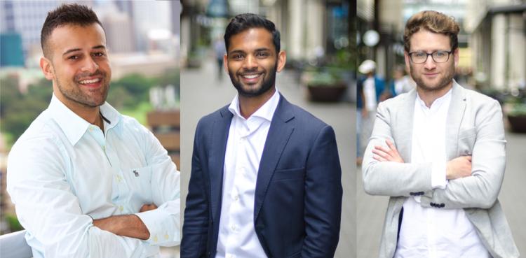 Krish Raja, Dillen Alahendram and Edd Simpson