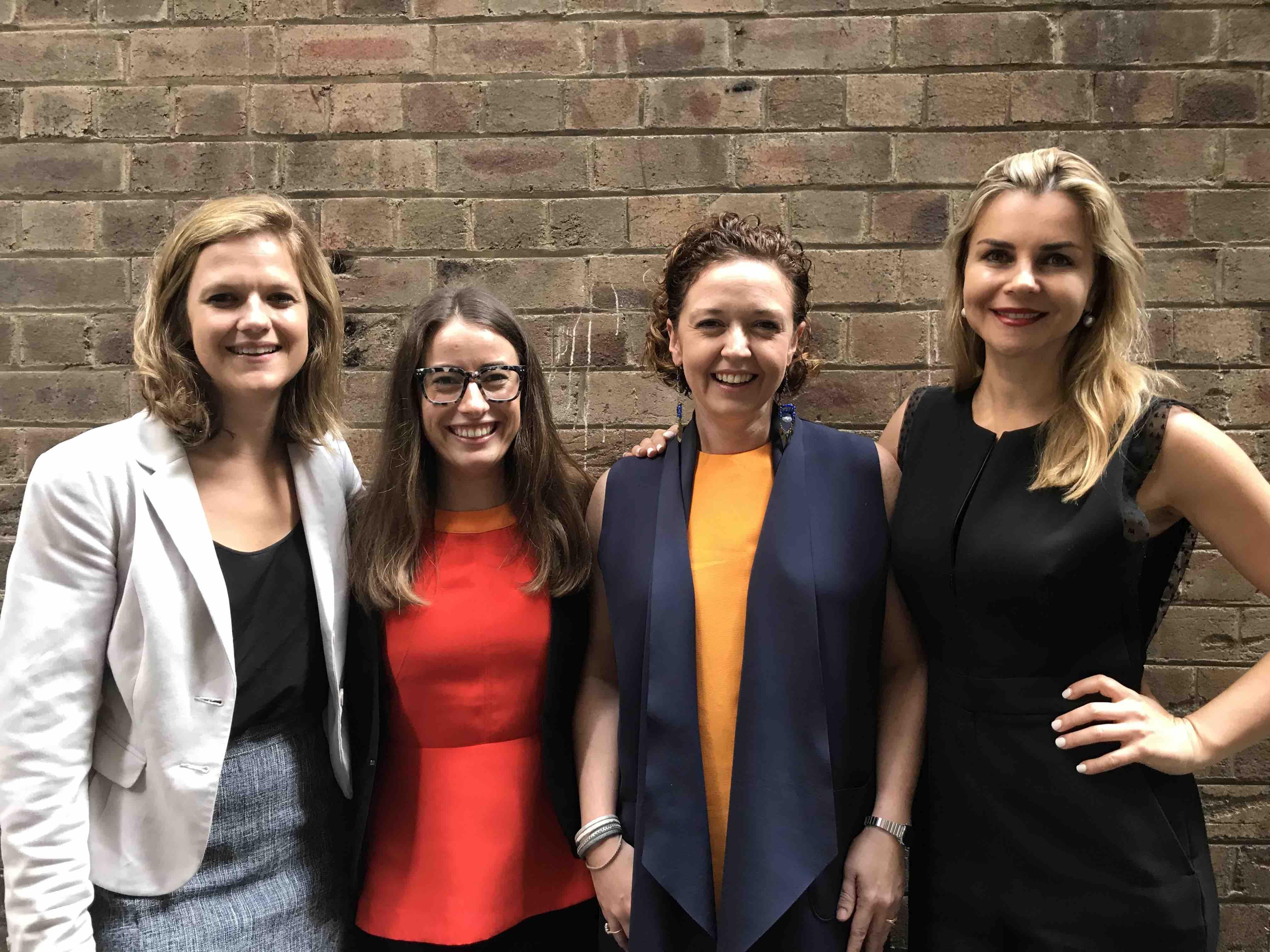 Alexis Carroll, Sarah Bullen, Aideen McDonald and Agata Kenna (DEC PR)