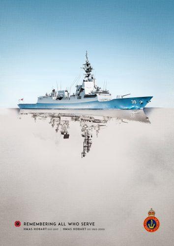 'Reflections' ad - HMAS Hobart (NAA)