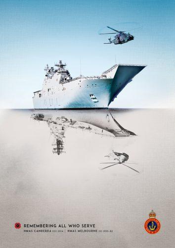 'Reflections' ad - HMAS Melbourne (NAA)