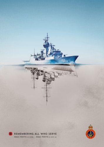 'Reflections' ad - HMAS Perth (NAA)