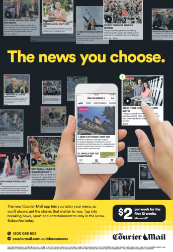 The Courier-Mail bus shelter ad [1]