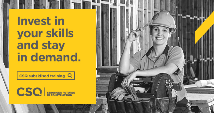 Construction Skills Queensland's 'Invest' campaign