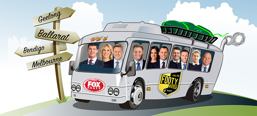 Full-On Footy Tour bus (AFL)
