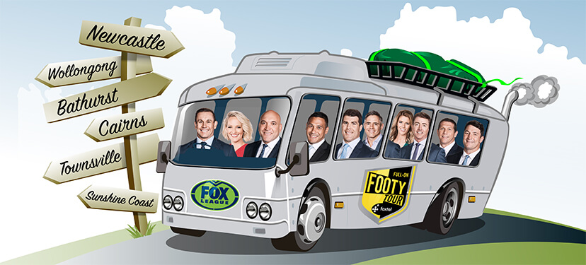 Full-On Footy Tour bus (NRL)