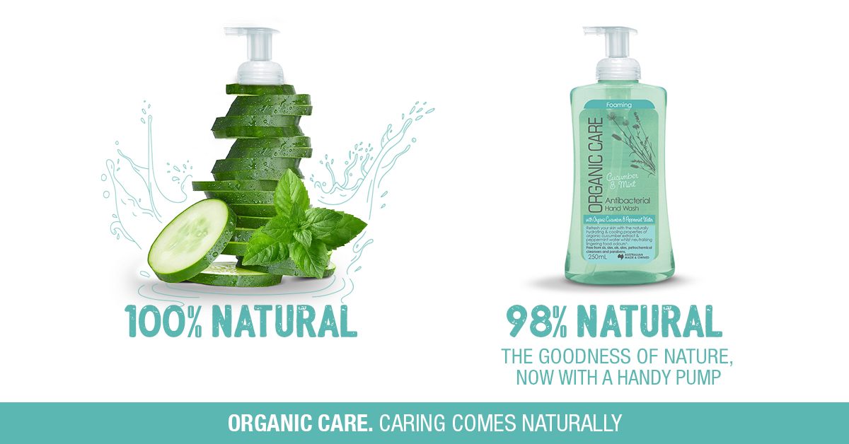 Organic Care Cucumber and Mint Antibacterial Hand Wash