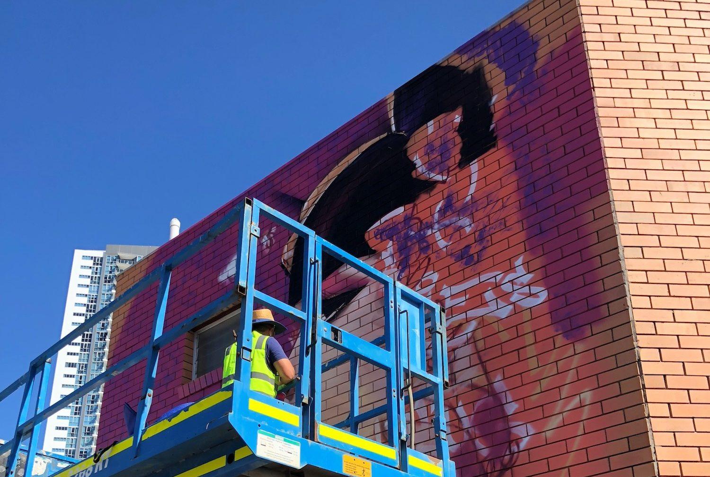 Golden Walls - Davison Lane project (artist, Sofles)