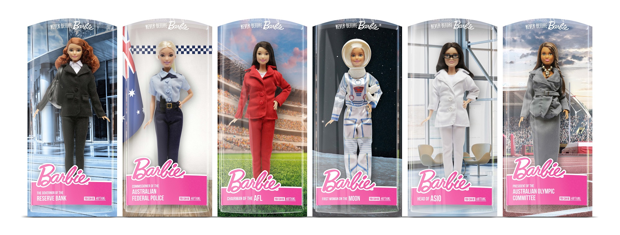 Never Before Barbie range