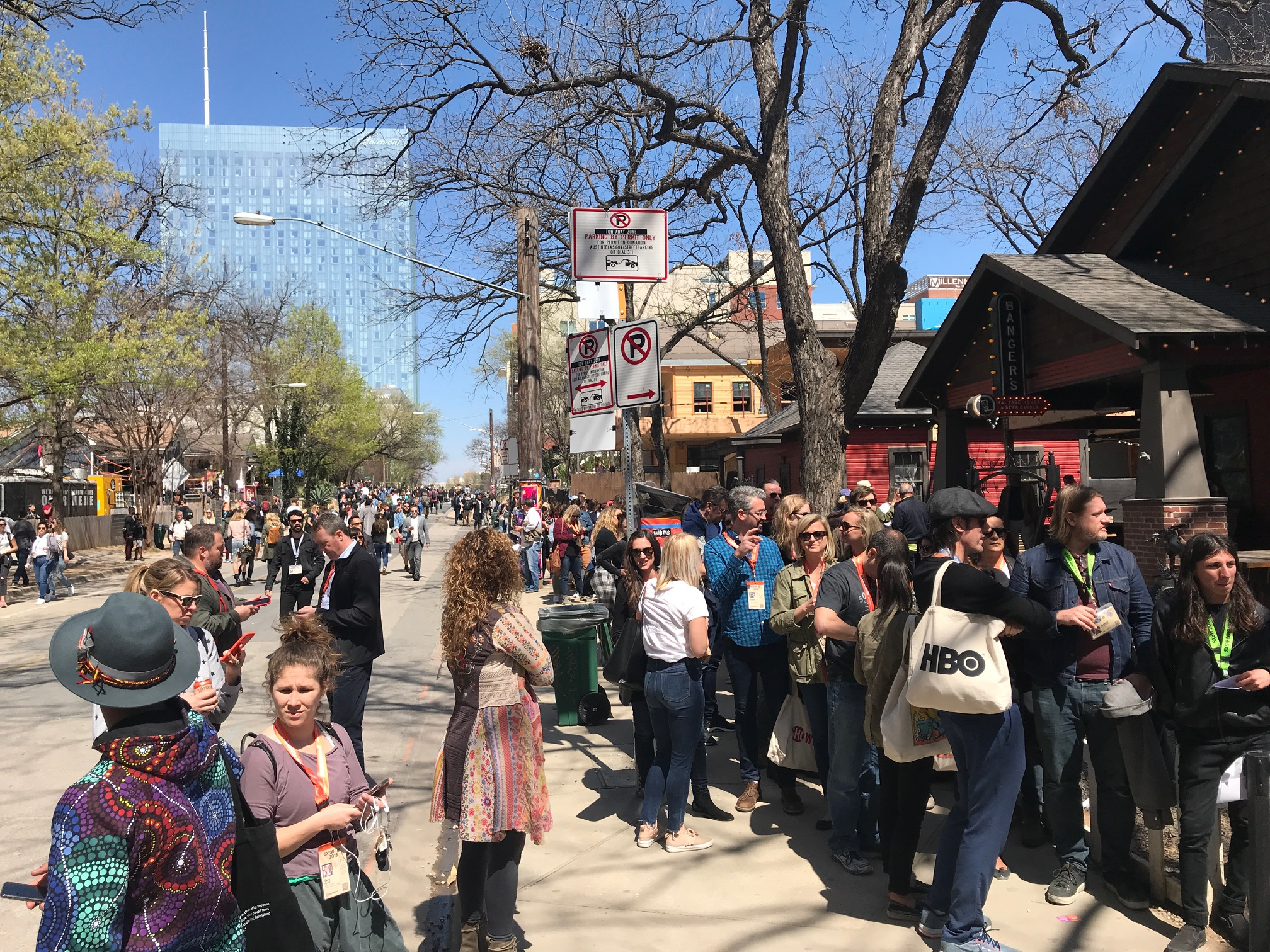 The mere mention of Hugh Jackman was enough to have half of the SXSW attendees forming an orderly queue out of sight for the chance of touching the Boy From Oz