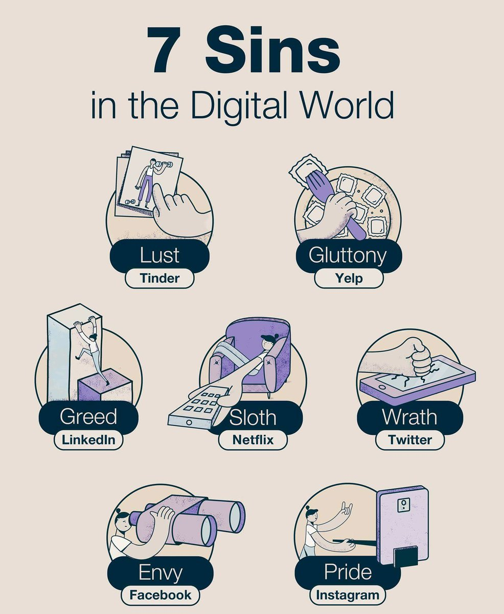 7 Sins in the Digital World