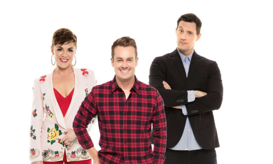 Em Rusciano, Grant Denyer and Ed Kavalee