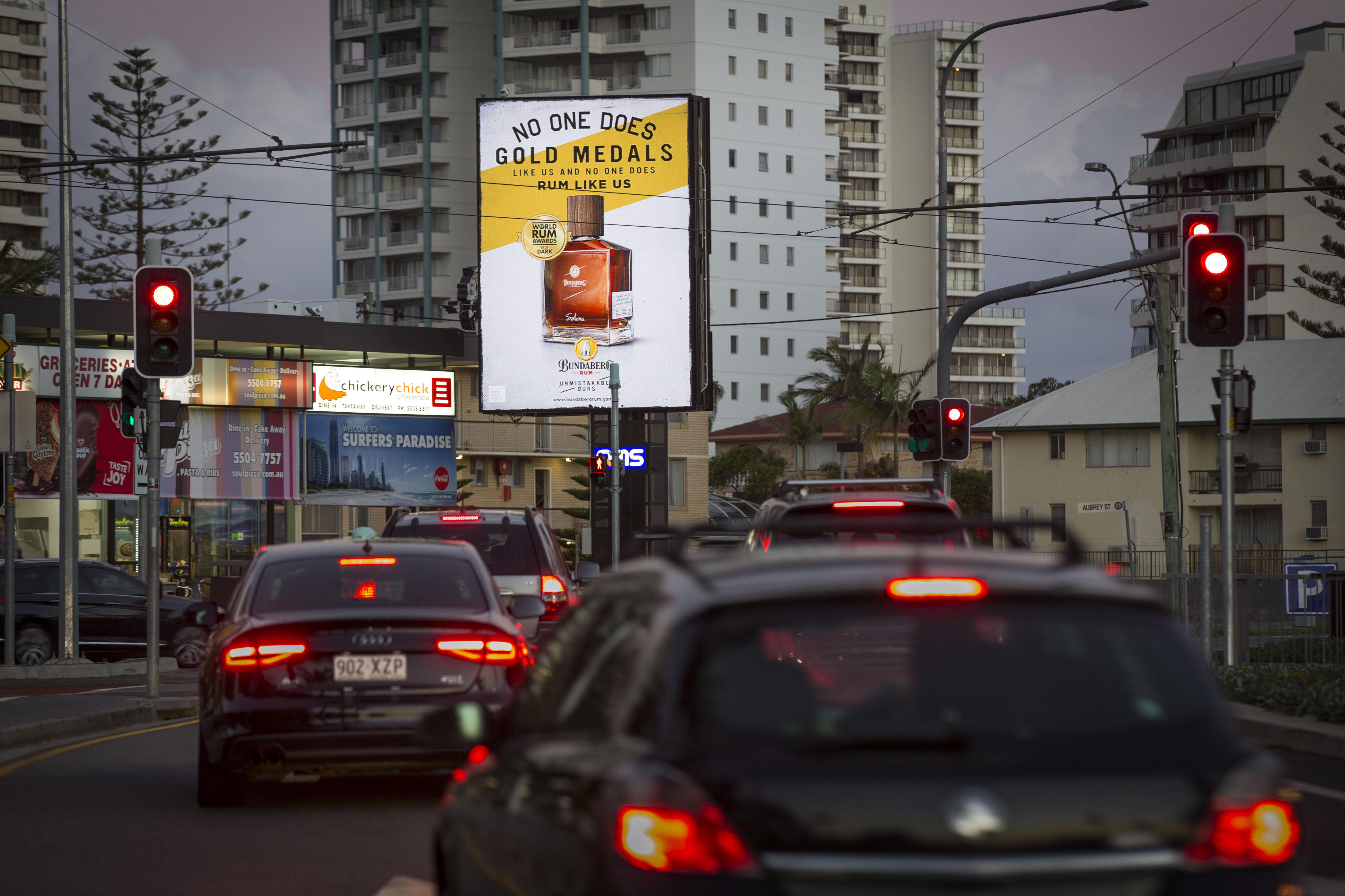 QMS billboard (Surfers Paradise, Bundaberg)