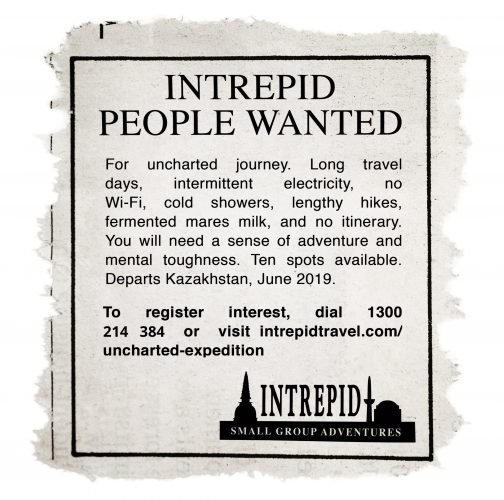 Intrepid Travel-Intrepid -travel-uncharted-ad-2019