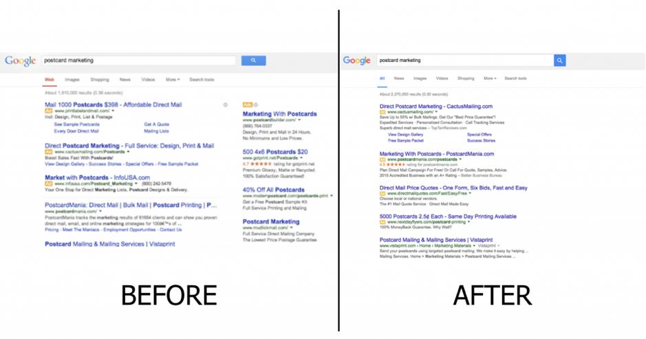 Paid v organic search on Google