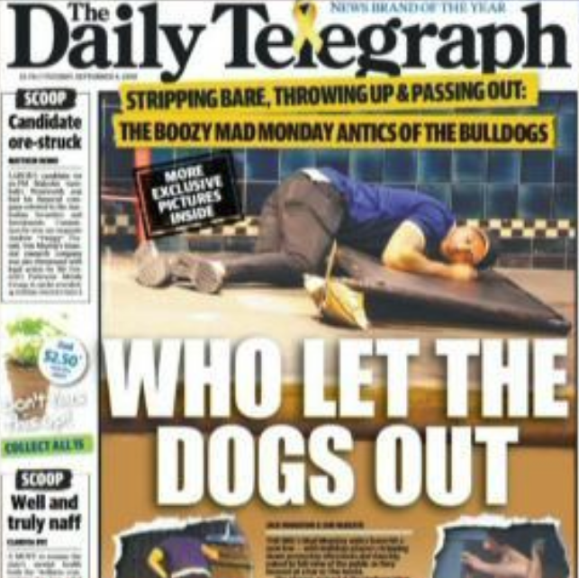 Daily Telegrpah article on Canterbury Bulldogs [1]