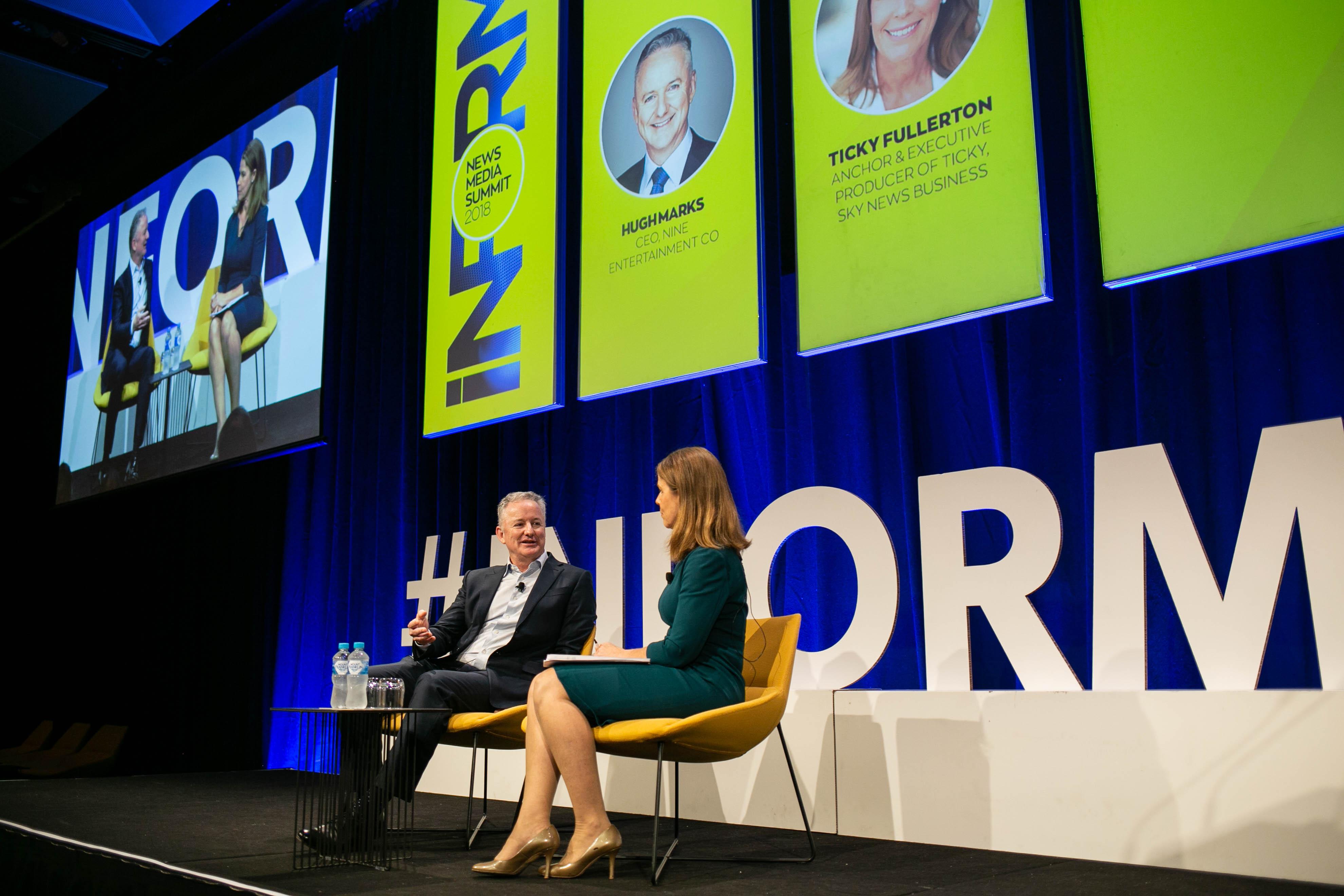 Nine CEO Hugh Marks at Inform Summit