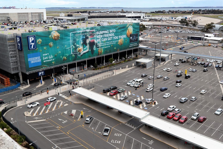 Sydney Airport unveils building wrap aerial view